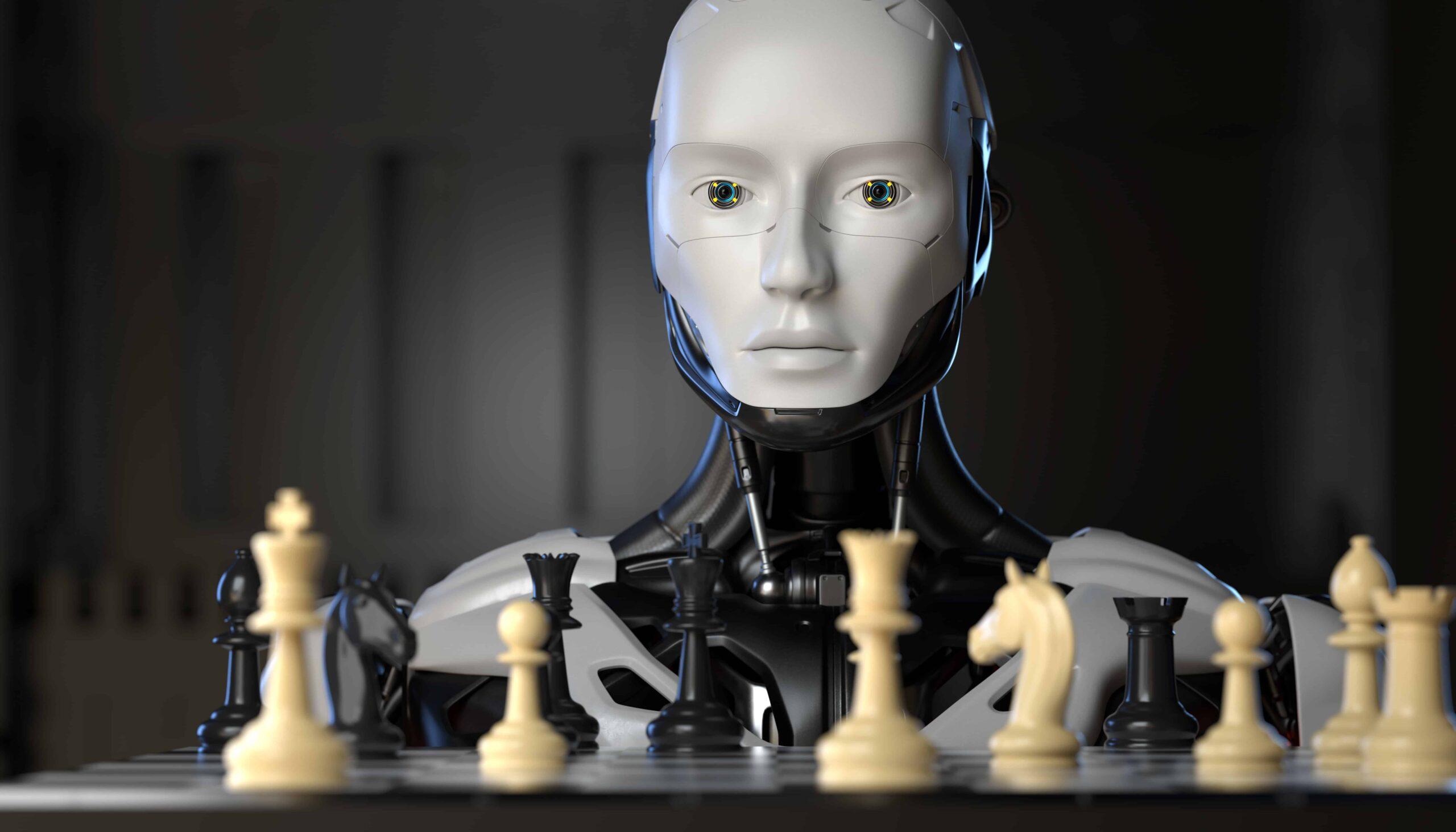 robot playing chess scaled ما هو التعلم العميق؟ وكيف يعمل؟