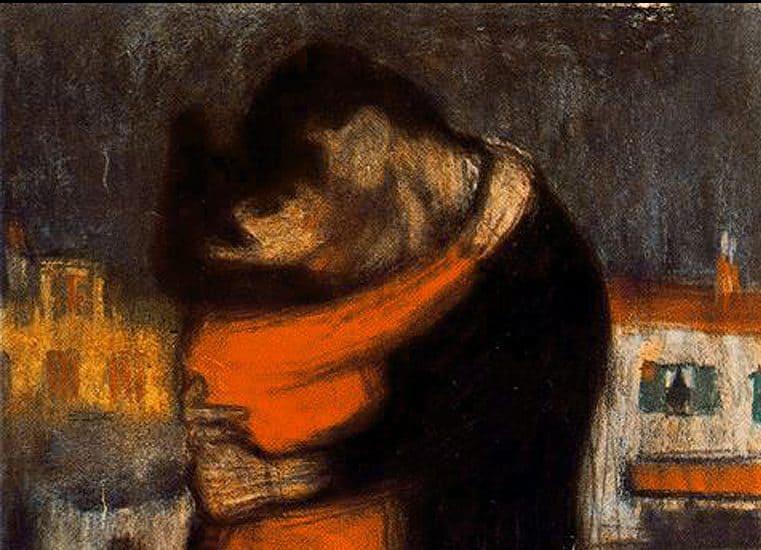 1900 Lovers of the street 59x35cm e1515515441224 محمد الفخراني - فى الحب والتعرِّى