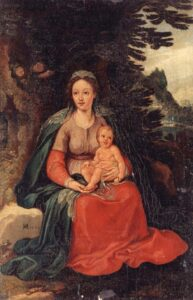Virgin and Child العذراء والطفل لـ هانز فان آخن