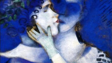 bluelantern marc chagall blue lovers 1338413805 org راخيل جرازون - أنا وأنت حمقى طائشون