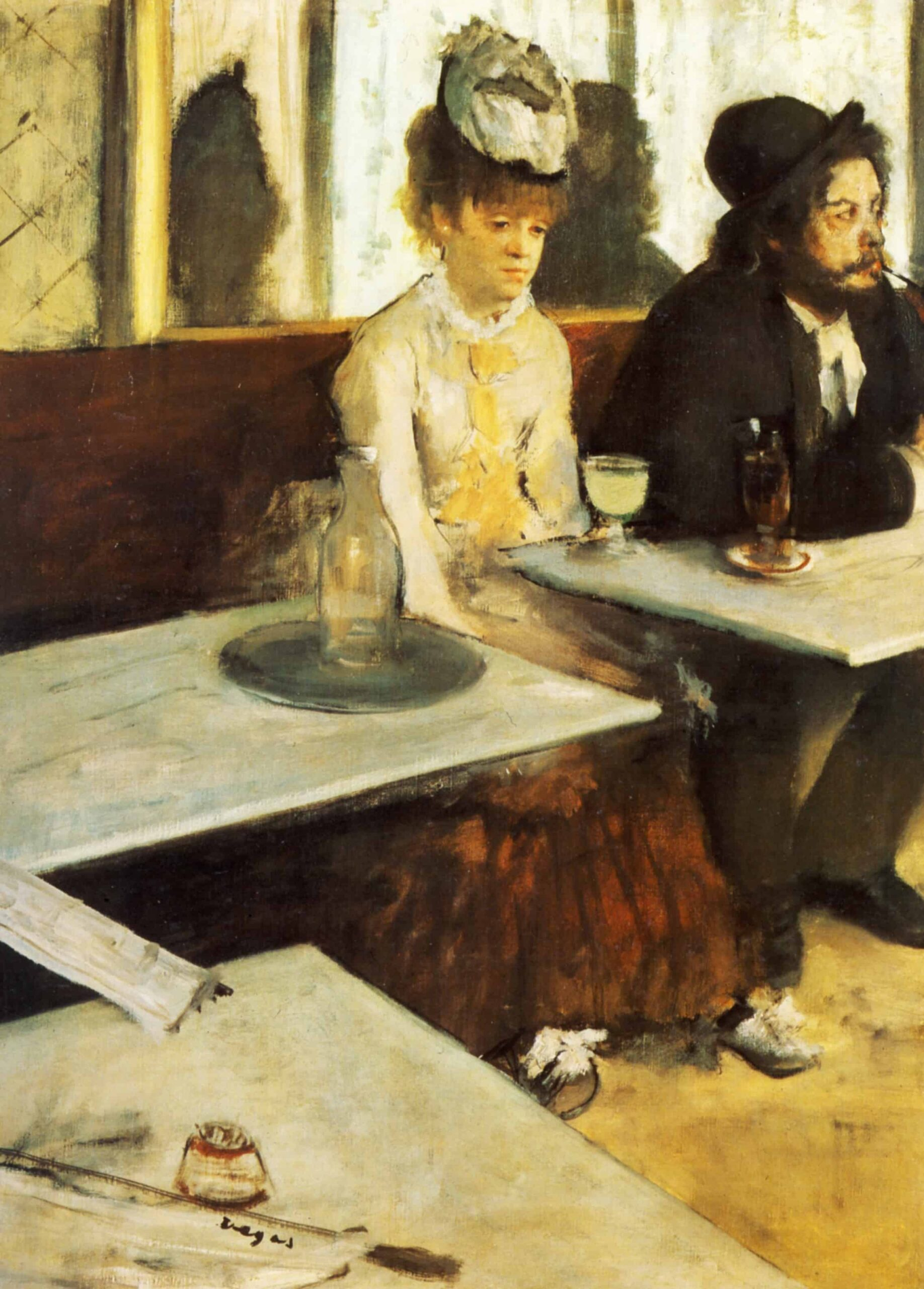the absinthe drinker 1876 scaled الشراب المُسْكِر لـ إدغار ديغا