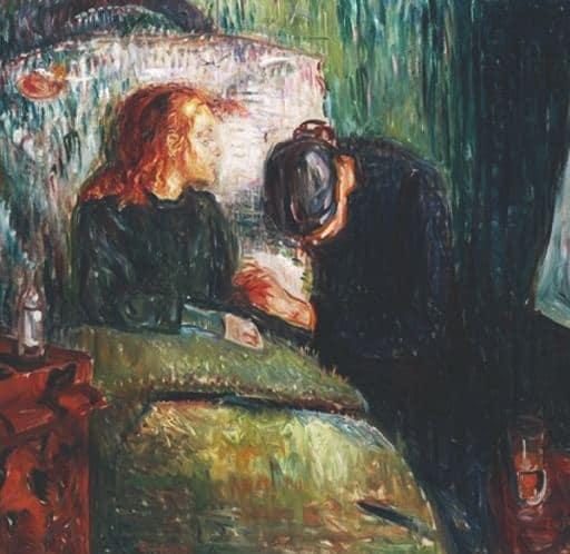 the sick child 1886 الطفل العليل لـ إدفارت مونك