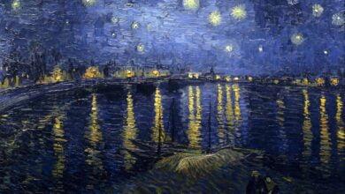 the starry night 1888 2 سوزان ستيوارت - نجوم صفراء وجليد