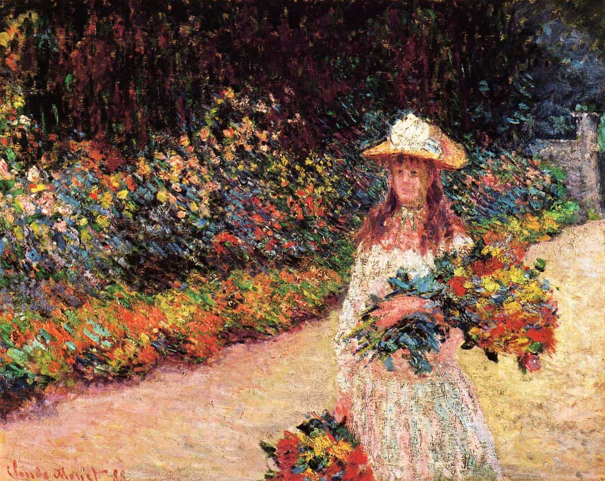 young girl in the garden at giverny شارل بودلير - إلى الّتي مرّت من هنا