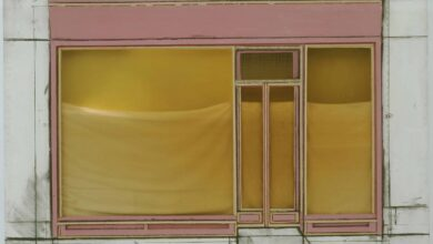 Christo Store Front Project نعومي شهاب ناي - فن التواري
