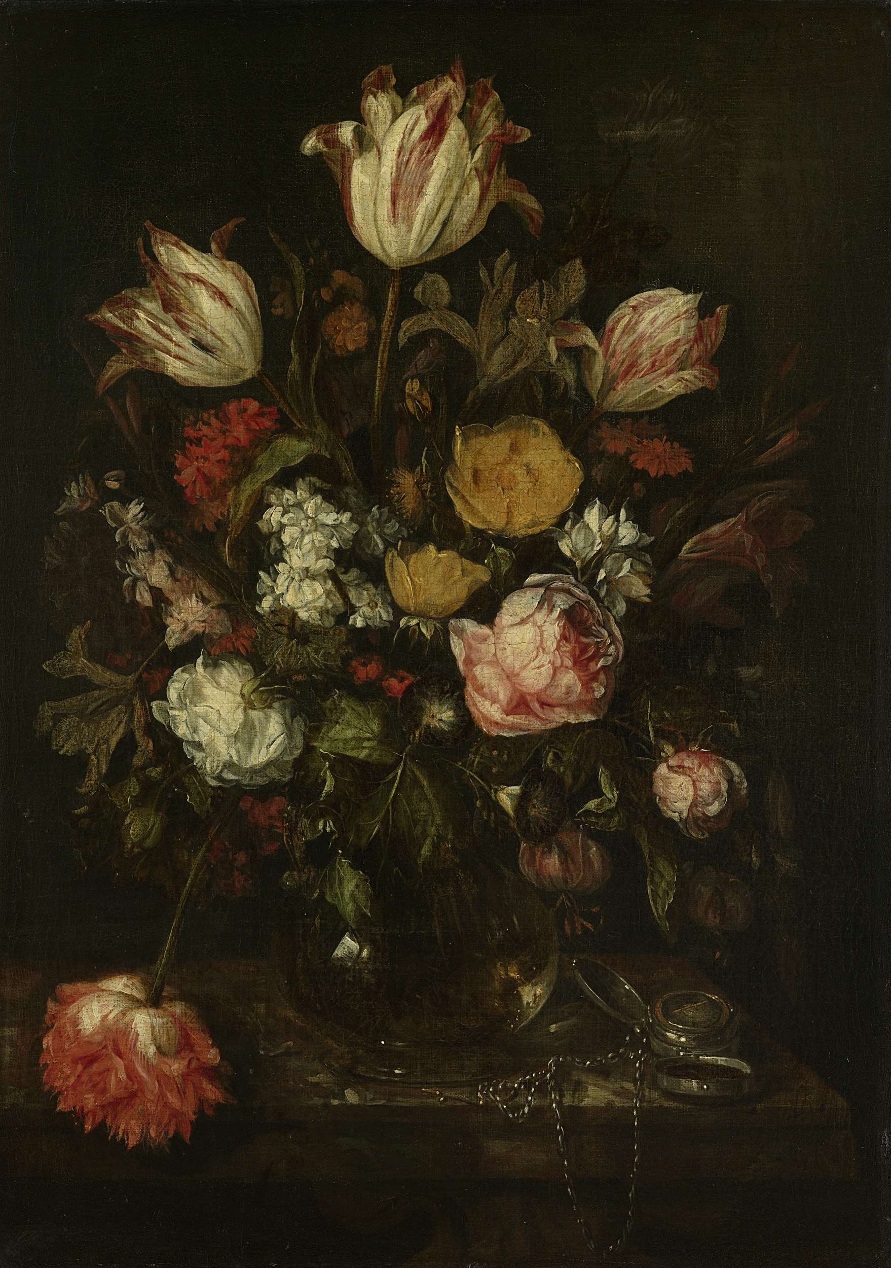 5de1fd09 bouquet of flowers in a glass vase 1650 64 x 46 amsterdam the state museum أمل دنقل - زهور