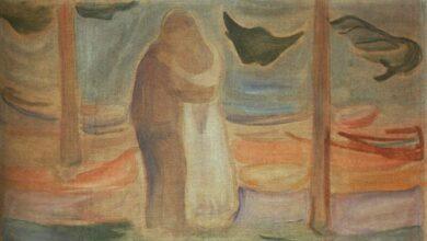 couple on the shore from the reinhardt frieze 1907 1.jpgLarge 1 عفاف إبراهام - على جسد الأبد