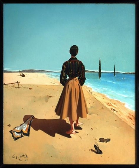 dama en la playa 1953 بسام المسعودي - هل تعلــمين ؟