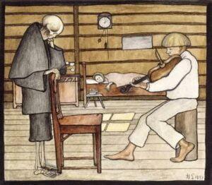 death listens 1897 الموت يستمع لـ هوجو سيمبرج