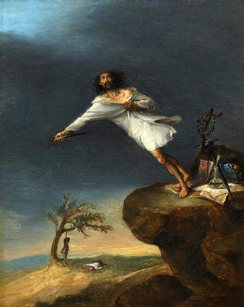 satire of the romantic suicide 1839.jpgLarge جمال القصاص - رهن الحب