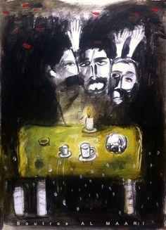 Boutros Al Maari Syrian Artist إلى سيزار فاييخو - سركون بولص