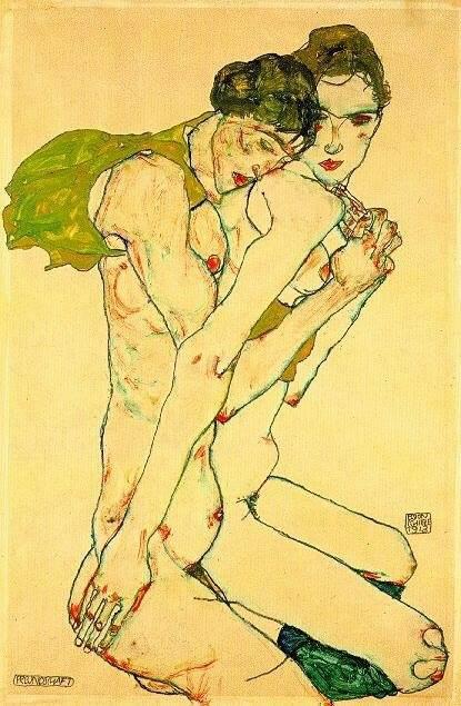 Egon Schiele صلاة خضراء - ديمة حسون