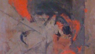 anguilaine gris et rouge 1983.jpgLarge خافيير أوكيندو - الأشجار وشعرها المستعار