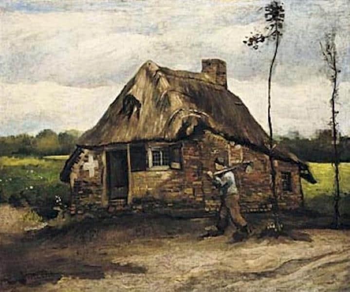 cottage with peasant coming home 18851.jpgLarge مسعد محمد أحمد - البيت ليس بعيداً