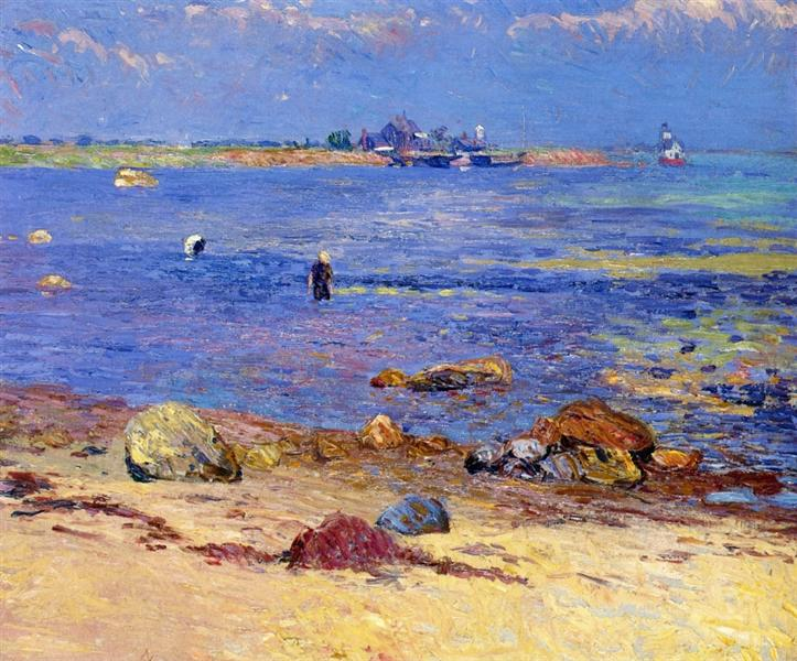 treading clams wickford 1909.jpgLarge كانا كاهاما - على الشاطئ   ترجمة : إسكندر حبش