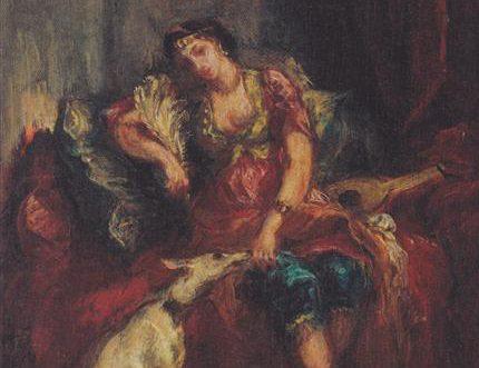 woman from algiers with windhund 18541.jpgLarge e1525406298200 قيس بن الملوح - تذكرتُ ليلى والسنين الخواليا