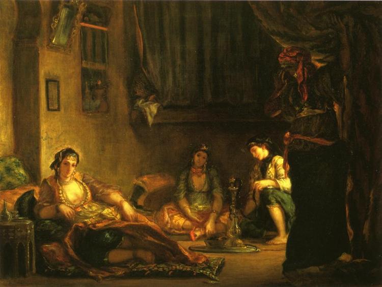 women of algiers in their apartment 18491.jpgLarge محيي الدين بن عربي - ألا يا حمامات الأراكة والبان