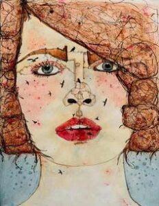 By Rania Moudaress artist from Syria الأعين القرمزية وصحن اللزانيا - تركي علي.