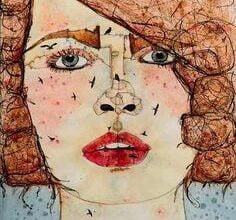 By Rania Moudaress artist from Syria الأعين القرمزية وصحن اللزانيا - تركي علي