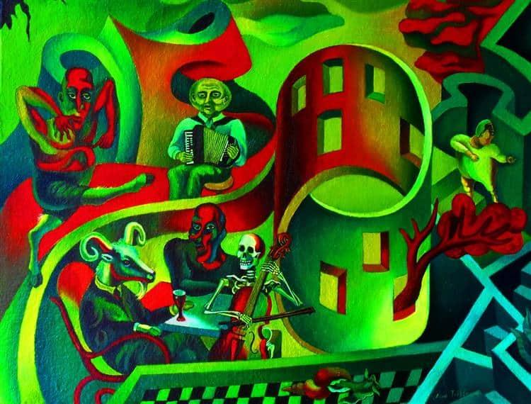 evil holiday oil painting 2009 87 x 65.jpgLarge شو هونج سينج - شـياطيـن