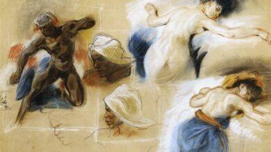 sketch for the death of sardanapalus 18271.jpgLarge ريتا بومي باباس - لو تجولت مع صديقاتي المّيتات
