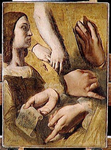 study for the apotheosis of homer s profile raphael hands of apelles raphael racine جورج سرنداريس - بأيد خشنة