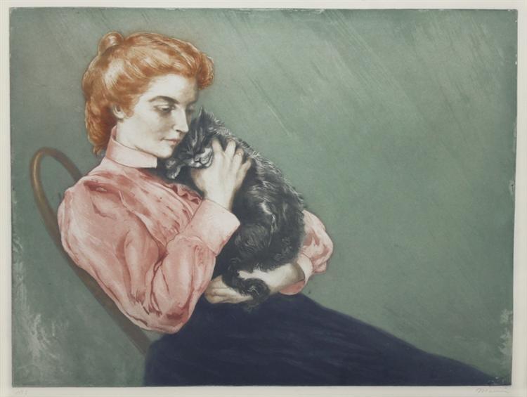 jeune femme au chat 1899.jpgLarge إرنست همنغواي - قطة تحت المطر (قصة قصيرة)