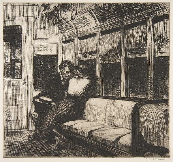 night on the el train 1918 هايکو استرالي- الشاعر سیمون هانسن