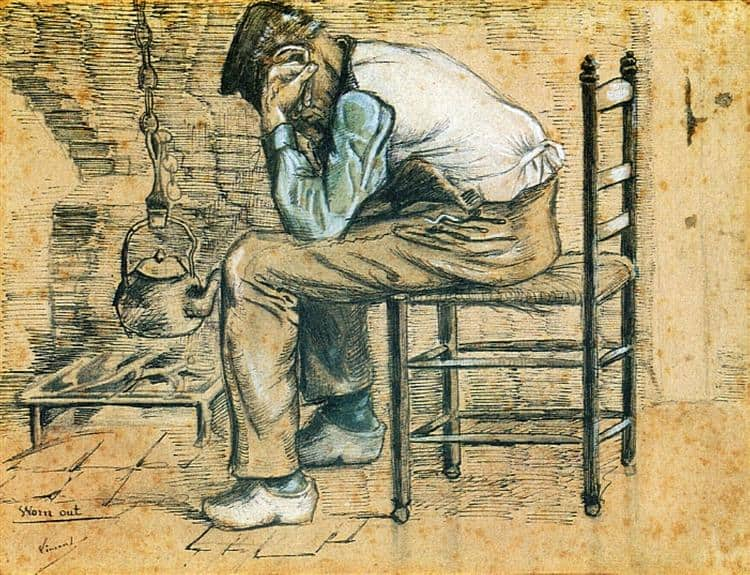 peasant sitting by the fireplace worn out 1881 1.jpgLarge رسائل فينسنت فان غوخ (2)