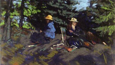 sketchers in the woods 1918.jpgLarge تشارلز بوكوفسكي - نصيحة ودية لكثير من الشباب