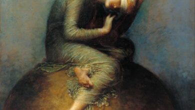 07c32a67 assistants and george frederic watts hope tate britain رنيم نزار - ملك شرس .. الحب