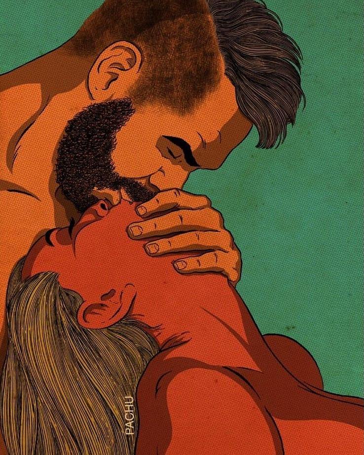 Art by Pachu M Torres برجندي - عزة عبدالمنعم