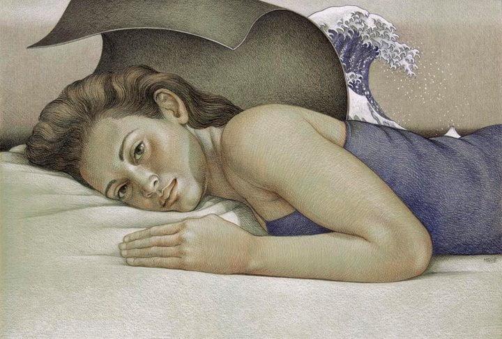 Michael Bergt realism painter24 الحصاة التي قفزت في حذائك كانت قلبي - إسراء النمر