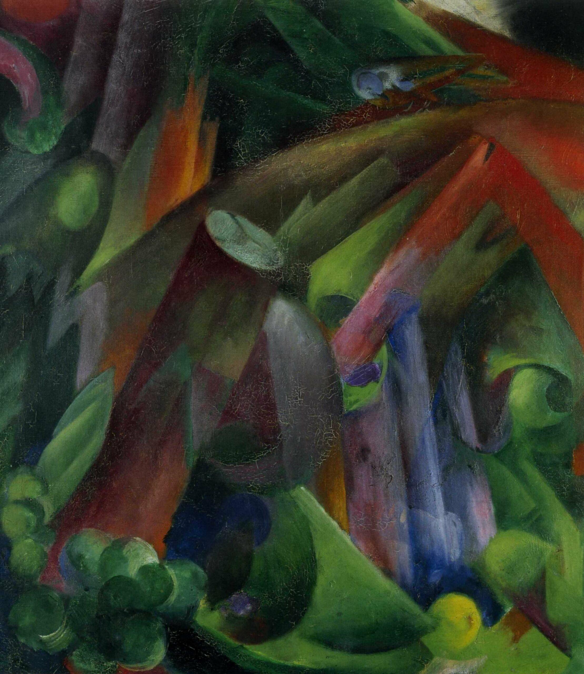 1912 Franz Marc Forest with bird scaled قصيدتان - أحمد فضيض