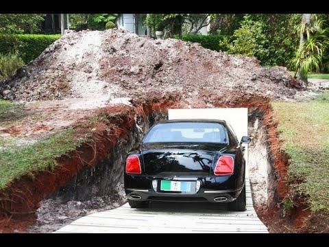 buries bentley رجل يدفنُ سيارته البنتلي تحت الأرض، لماذا؟